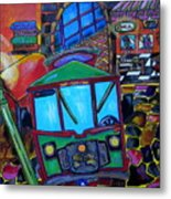 Down Town Trolley Metal Print