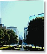 Down University Avenue Metal Print