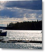 Downeast Reflections Metal Print by Steven Scott