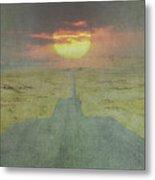 Downhill Sunset Metal Print