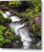 Downstream From The Waterfalls Metal Print