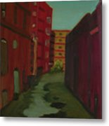 Downtown Alley-portland Maine Metal Print