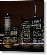 Downtown At Night Metal Print