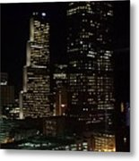 Downtown Atlanta Lights Metal Print