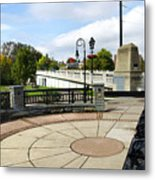Downtown Binghamton Ny Confluence Park Metal Print