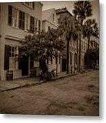Vintage Downtown Charleston South Carolina Metal Print