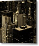 Downtown Chicago At Sunset Metal Print