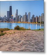 Downtown Chicago From North Beach Metal Print