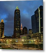Downtown Cleveland At Dusk Metal Print