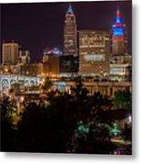 Downtown Cleveland Veteran Memorial Bridge  Metal Print