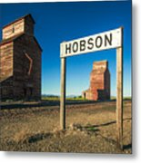 Downtown Hobson, Montana Metal Print
