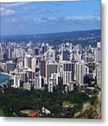 Downtown Honolulu  Metal Print