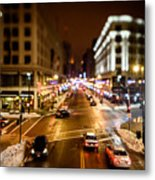 Downtown In The Itty-bitty City Metal Print