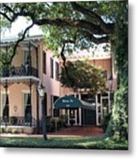 Downtown Inn Metal Print