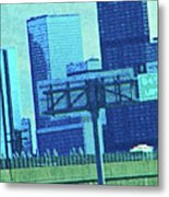 Downtown Left 3-4 Mile Metal Print