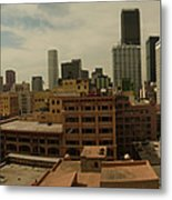 Downtown Los Angeles Panorama Metal Print
