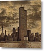 Downtown Manhattan Circa Nineteen Seventy Nine  Metal Print