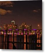 Downtown Miami Metal Print