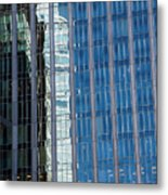 Downtown Reflection Metal Print