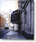 Downtown Saint Louis Street Photo Metal Print