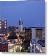 Downtown San Antonio At Night Metal Print