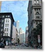 Downtown San Francisco Street Level Metal Print