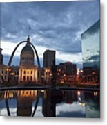 Downtown St. Louis At Dawn Metal Print