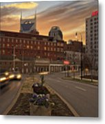 Downtown Sunset Metal Print by Steven  Michael