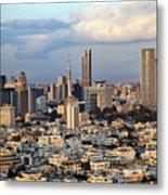 Downtown Tel-aviv Skyline Metal Print