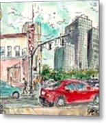 Downtown Tyler, Corner Of Broadway And Erwin May 2018 Metal Print