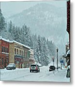 Downtown Wallace In Winter 2017 Metal Print