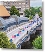 Downtown Waterloo Iowa Bridge Metal Print