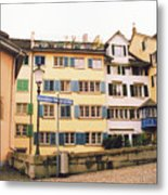 Downtown Zurich Switzerland Metal Print