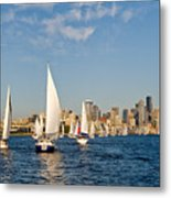 Downtwon Seattle Waterfront Metal Print