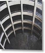 Downward Spiral - Looking Down Parking Garage Metal Print
