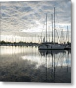 Downy Soft Clouds At The Marina Metal Print