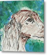 Doxie Blues Metal Print