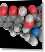 Doxycycline Drug Molecule Metal Print by Laguna Design