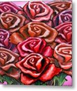 Dozen Roses Metal Print