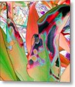 Abstracted Leaf Patterns #1  Ref. Dp67  Metal Print