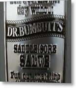 Dr. Bumbutt's Metal Print