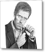 Dr. House  Hugh Laurie Metal Print