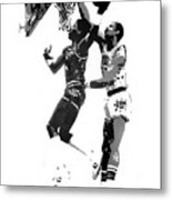 Dr. J And Kareem Metal Print