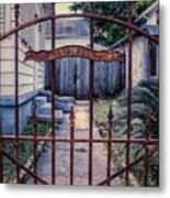 Dr. Lines Gate - Nola Metal Print