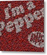 Dr. Pepper Bottle Cap Mosaic Metal Print by Paul Van Scott