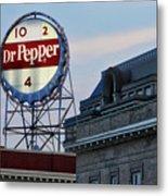 Dr Pepper Sign Metal Print