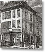 Dr. Samuel Johnson S Birthplace In Metal Print