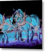 Draft Horses Metal Print