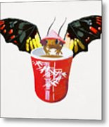 Dragon And Chinese Cup Metal Print