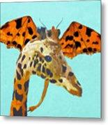 Dragon And Giraffe Metal Print